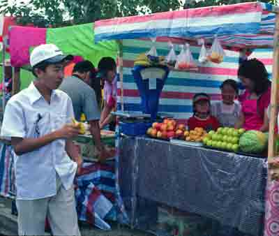 Fresh fruit is a rare option in Mongolia