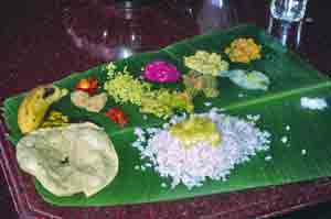Sadya - Traditional Keralan Vegetarian Feast