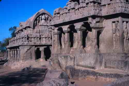 Temples carved from huge boulders