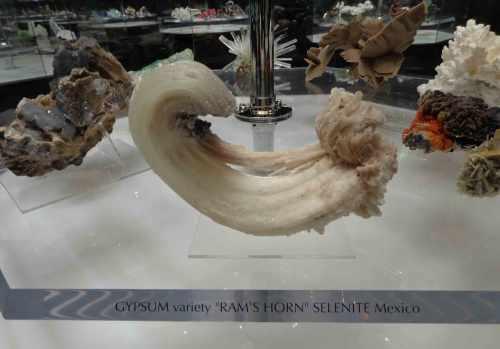 Gypsum-Selenite in center