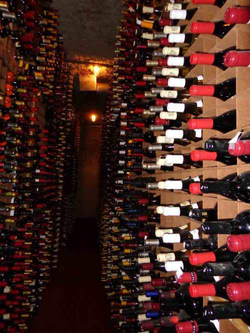 One small part of the wine cellar at Bern's.